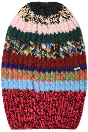 MISSONI Patchwork-effect striped knitted beanie