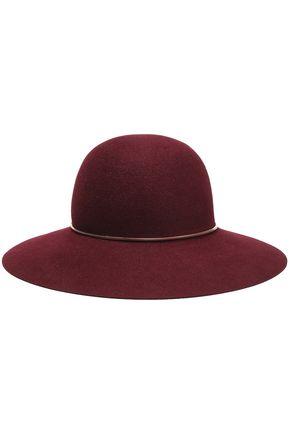 LANVIN Chain-trimmed rabbit-felt hat