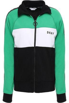 DKNY Color-block cotton-blend jacket