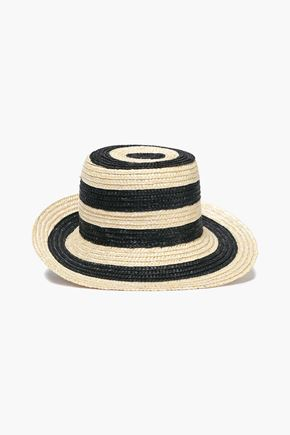 EUGENIA KIM Striped straw sun hat