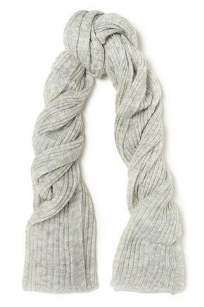 RAG & BONE Mélange ribbed mohair-blend scarf