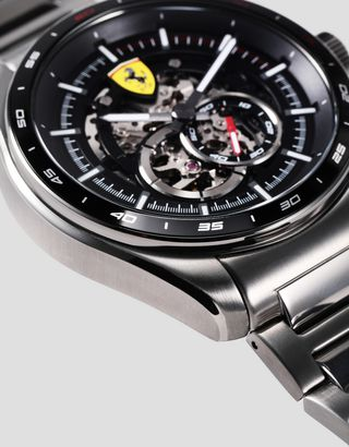 Scuderia Ferrari Online Store - Speedracer automatic watch with steel bracelet available exclusively at Ferrari Stores - Chrono Watches