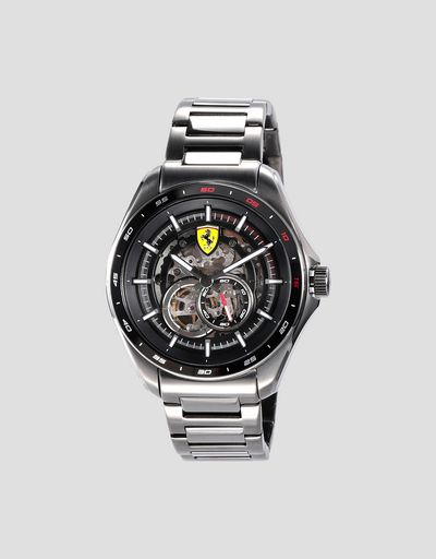 Speedracer automatic watch with steel strap available exclusively in Ferrari Stores