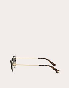 TRIANGULAR METAL GLASSES WITH CRYSTAL STUDS