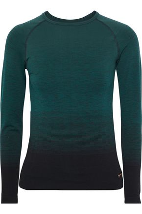 PEPPER & MAYNE Goddess dégradé stretch-jersey top