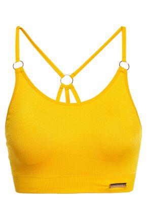 PEPPER & MAYNE Margot ring-embellished ribbed jersey sports bra