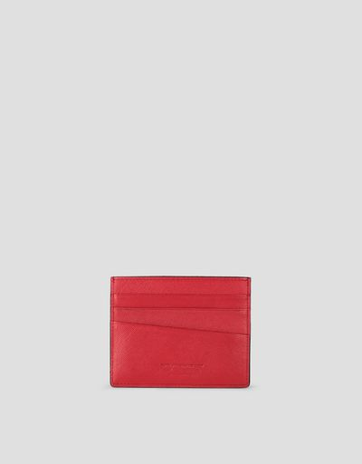 EVO Saffiano leather credit card holder