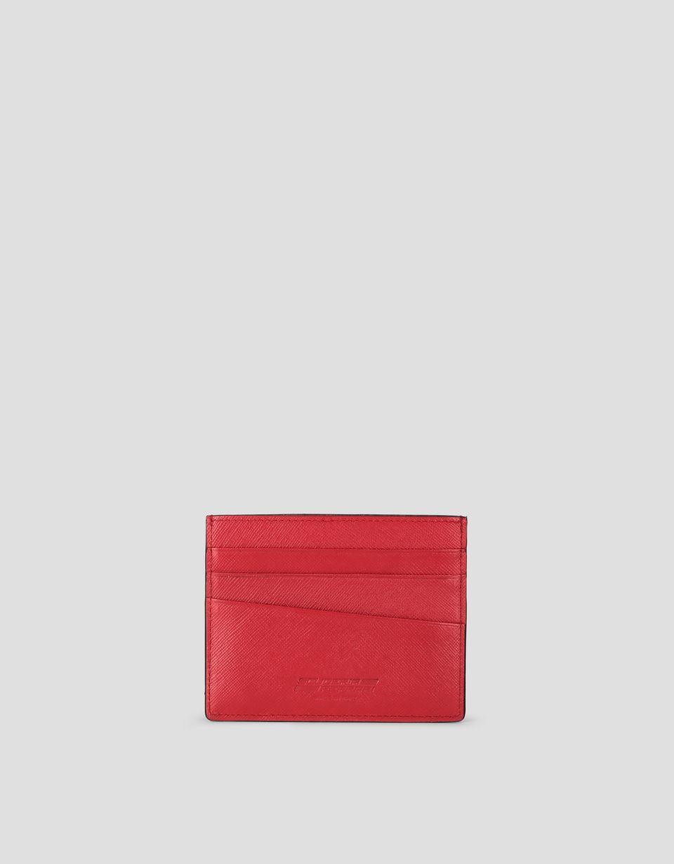 Scuderia Ferrari Online Store - EVO Saffiano leather credit card holder -
