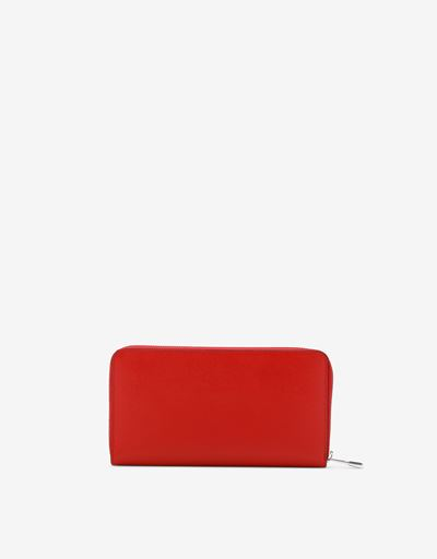 Scuderia Ferrari Online Store - EVO zip-around wallet in Saffiano leather. - Zip-around Wallets