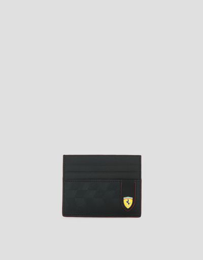 Saffiano leather credit card holder made in Italy