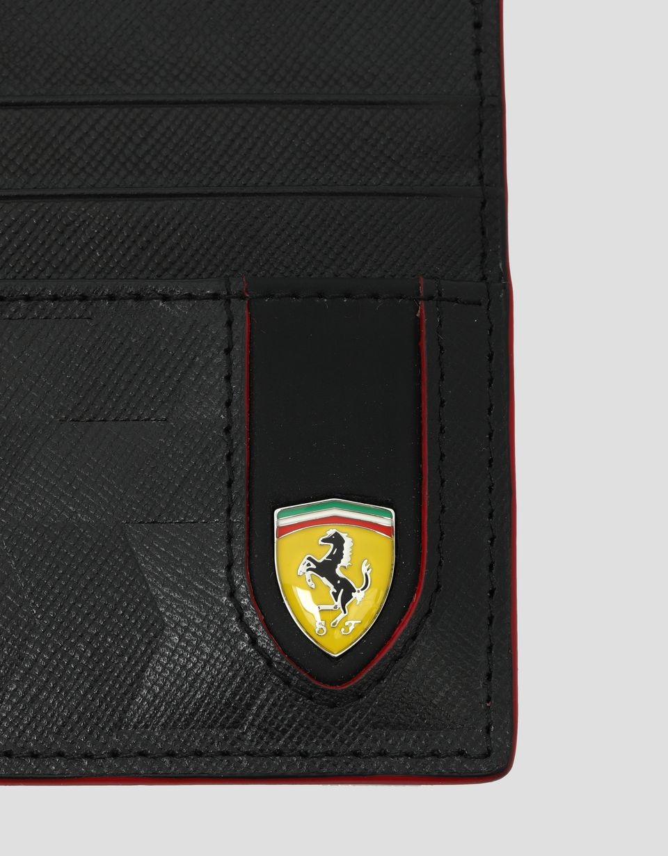 Scuderia Ferrari Online Store - Saffiano leather credit card holder made in Italy - Credit Card Holders