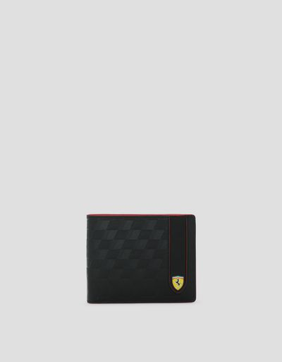 Horizontal wallet made in Italy in Saffiano leather