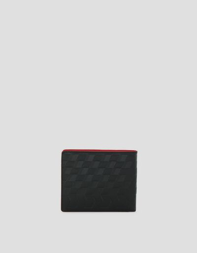 Saffiano leather horizontal bi-fold wallet made in Italy