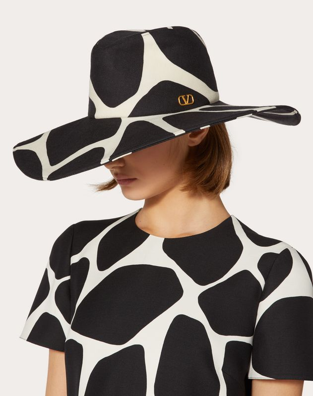 VLOGO wide-brim hat with print