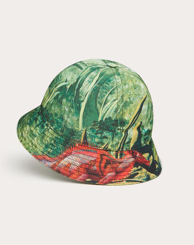 Bucket Hat aus Nylon mit RED DRAGON-Print