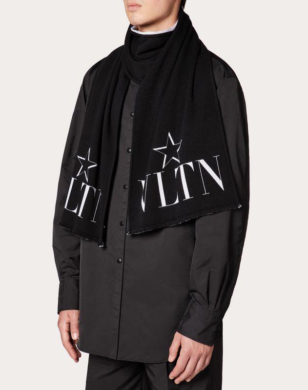 Sciarpa VLTN STAR in lana e seta