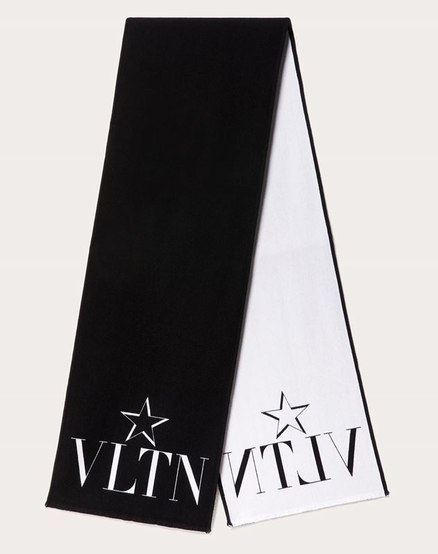 VLTN STAR Scarf in Wool and Silk
