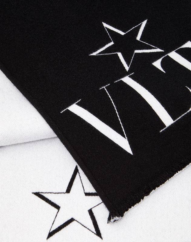 Шарф VLTN STAR из шерсти и шёлка