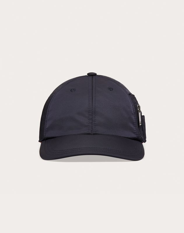 Nylon Baseball Cap with Valentino Embroidery