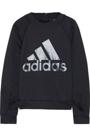 ADIDAS ORIGINALS Printed stretch-jersey sweatshirt