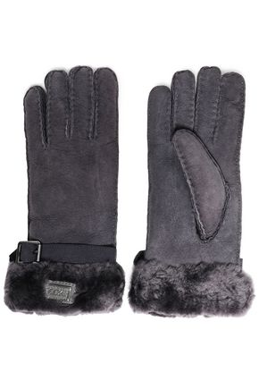 AUSTRALIA LUXE COLLECTIVE Buckle-detailed shearling gloves