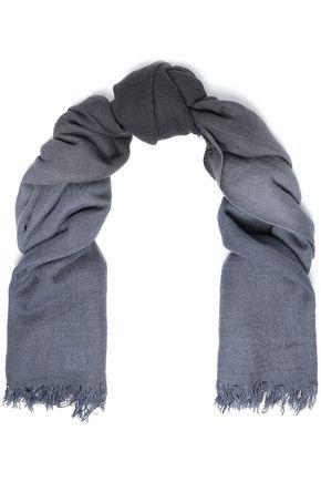 CHAN LUU ほつれ加工 グラデーションカシミヤ&シルク混 スカーフ