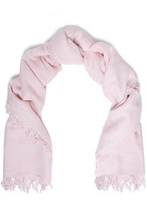 CHAN LUU ほつれ加工 スパンコール付き カシミヤ&シルク混 スカーフ