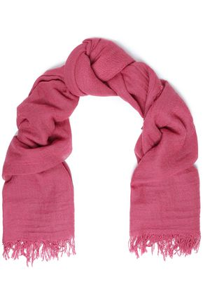 CHAN LUU Frayed cashmere and silk-blend gauze scarf