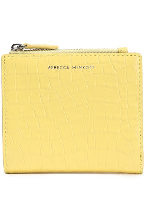 REBECCA MINKOFF Croc-effect leather wallet