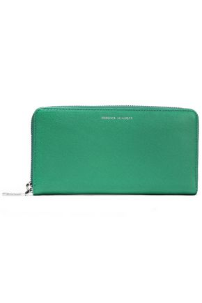 REBECCA MINKOFF Pebbled-leather continental wallet