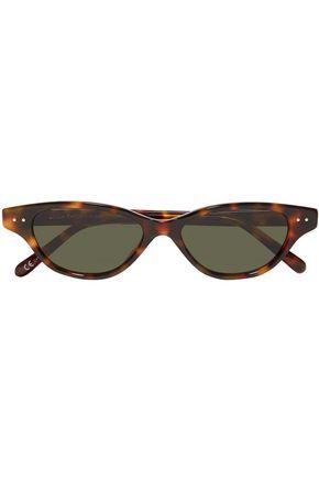 LINDA FARROW Cat-eye tortoiseshell acetate sunglasses