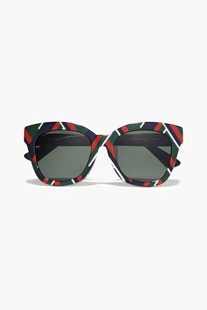 GUCCI D-frame printed acetate sunglasses