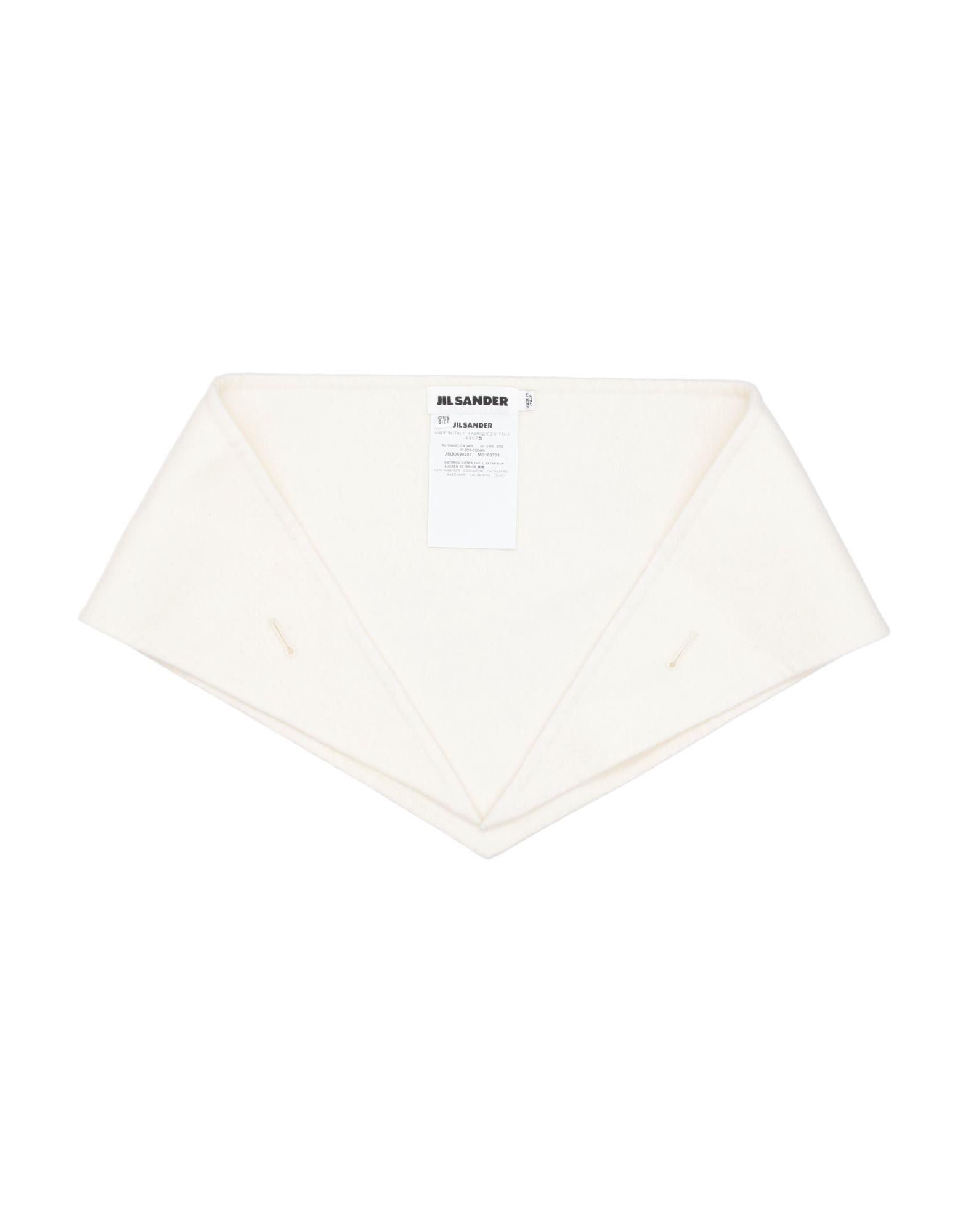 JIL SANDER Collars. no appliqués, flannel, basic solid color. 100% Cashmere