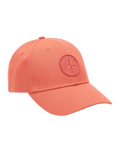STONE ISLAND 99168 Cap Man Lobster Red EUR 102