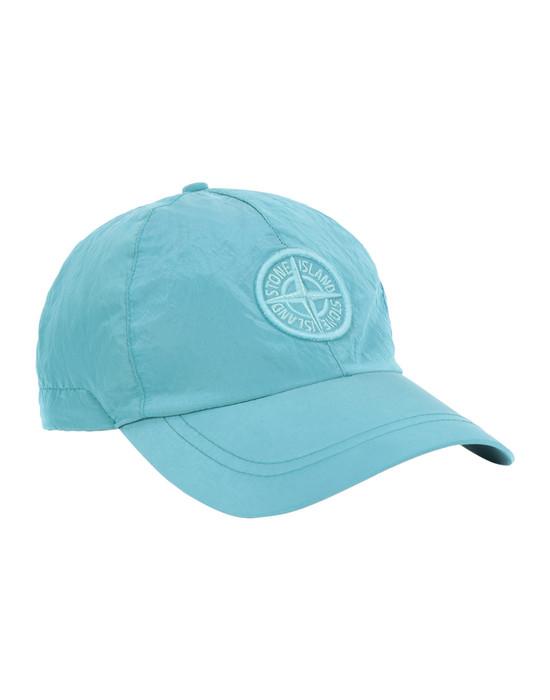 STONE ISLAND 99575 NYLON METAL Cap Man Turquoise