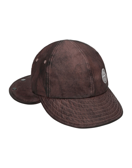 STONE ISLAND 99424 MEMBRANA 3L WITH DUST COLOUR FINISH Cap Man MAHOGANY BROWN