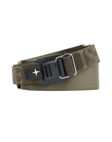 STONE ISLAND 94472 Belt Man Olive Green USD 118