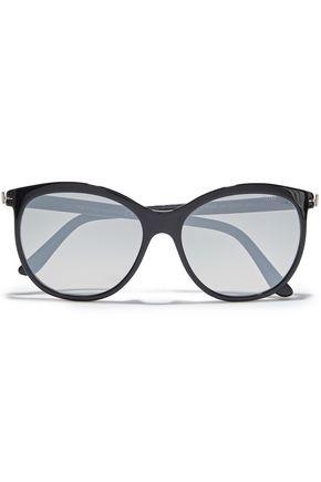 TOM FORD Geraldine round-frame tortoiseshell acetate sunglasses