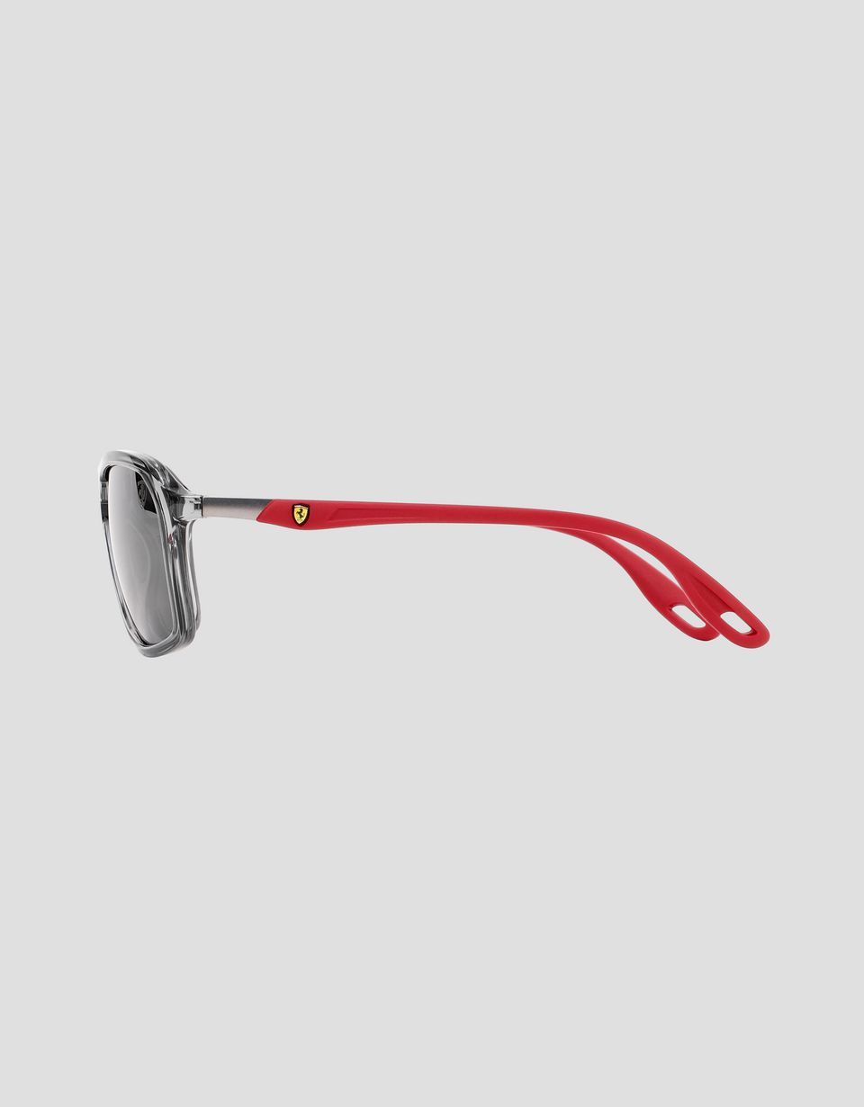 Scuderia Ferrari Online Store - Ray-Ban for Scuderia Ferrari with mirrored lenses RB4329M - Sunglasses