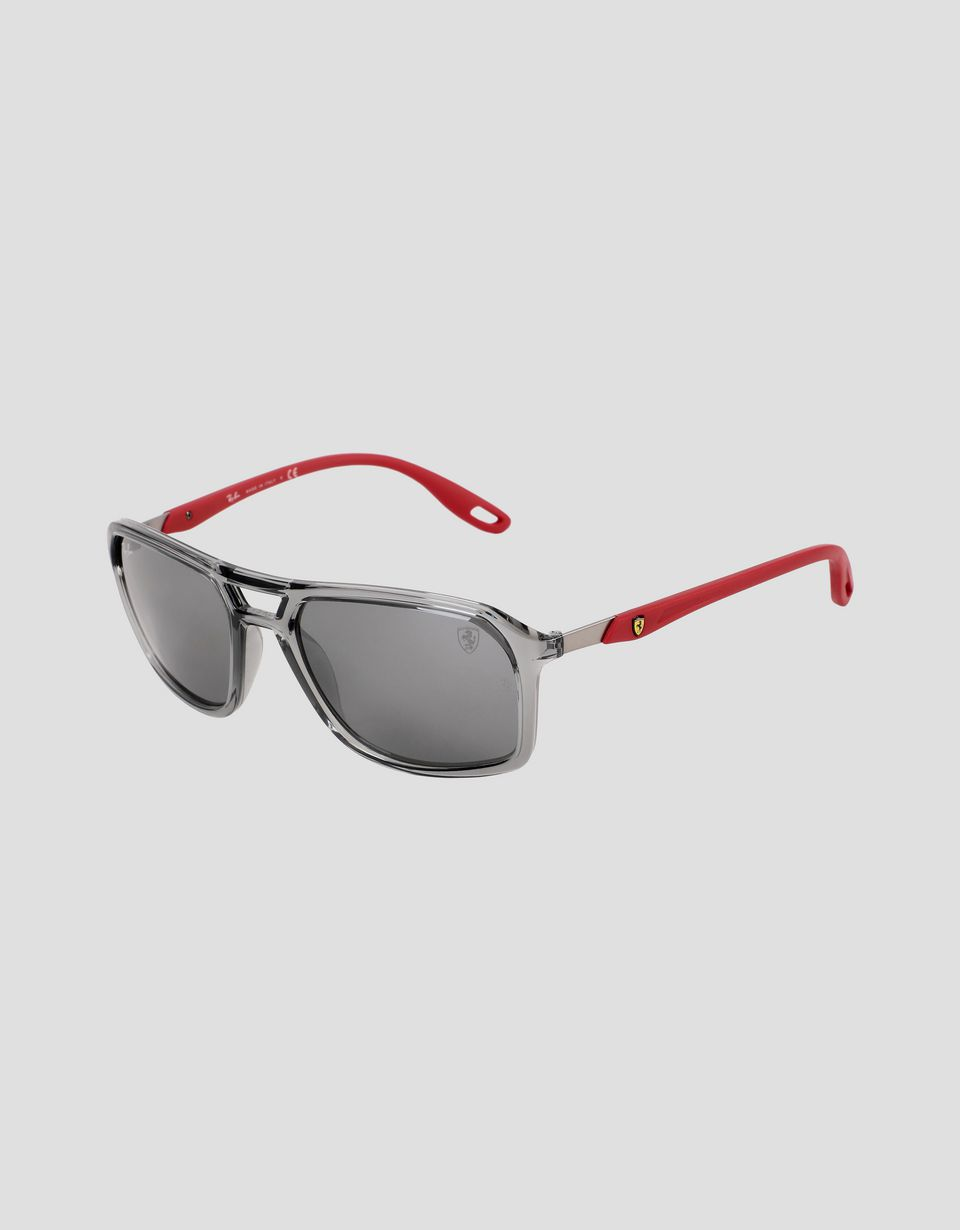 Scuderia Ferrari Online Store - Ray-Ban for Scuderia Ferrari with RB4329M mirrored lenses - Sunglasses
