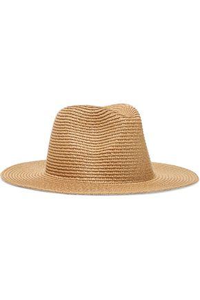 IRIS & INK قبعة باناما من مزيج الورق المحبوك