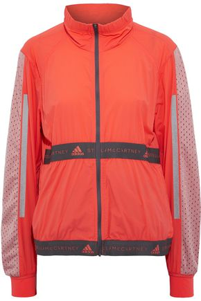ADIDAS by STELLA McCARTNEY Run mesh-paneled monogram-trimmed shell track jacket