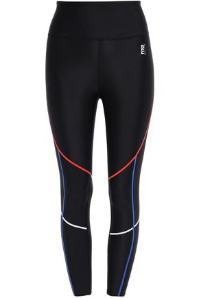 P.E NATION Zip-detailed stretch leggings