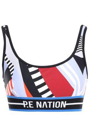 P.E NATION Cutout printed stretch sports bra