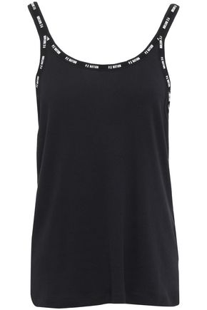 P.E NATION Ribbed cotton and modal-blend jersey tank