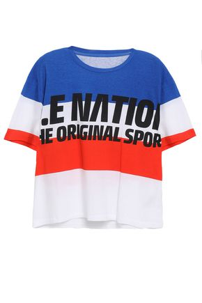 P.E NATION Printed cotton-jersey T-shirt