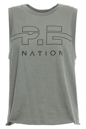 P.E NATION プリント コットンジャージー トップス