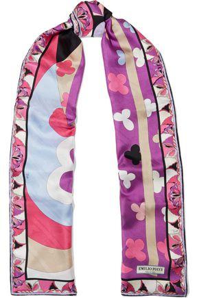 EMILIO PUCCI Printed silk-jacquard scarf