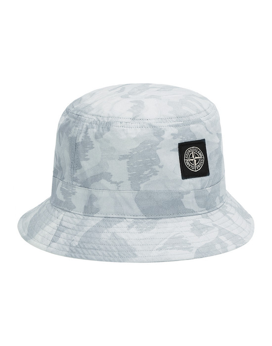 STONE ISLAND 993ED BIG LOOM CAMO  Cap Man Pale Blue