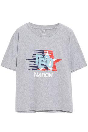P.E NATION メランジ プリント コットンジャージー Tシャツ